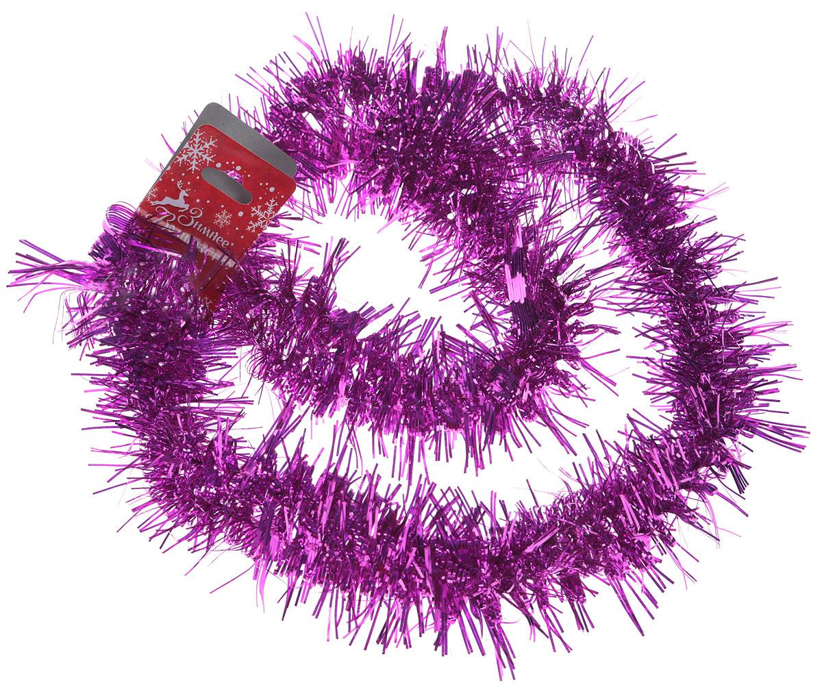 Мишура новогодняя Sima-land, цвет: малиновый, диаметр 5 см, длина 2 м. 702626 подставка под горячее sima land звездочка нашей кухни диаметр 11 5 см