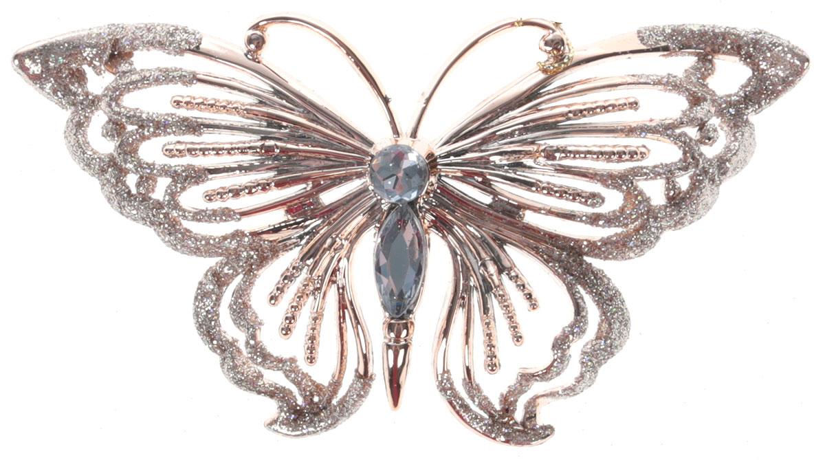 Украшение для интерьера новогоднее Erich Krause Бабочка драгоценная. Вид 2, 13 см43651_вид 2Изящная, практически невесомая бабочка Erich Krause Бабочка драгоценная. Вид 2 выполнена вцвете розового золота. Туловище бабочки декорировано стразами, а кончики крыльев усыпанысверкающими блестками. Украшение можно повесить в самое видное место в вашем домепри помощи петельки.