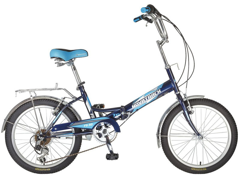 Велосипед складной Novatrack FS-30, цвет: синий, белый, 20