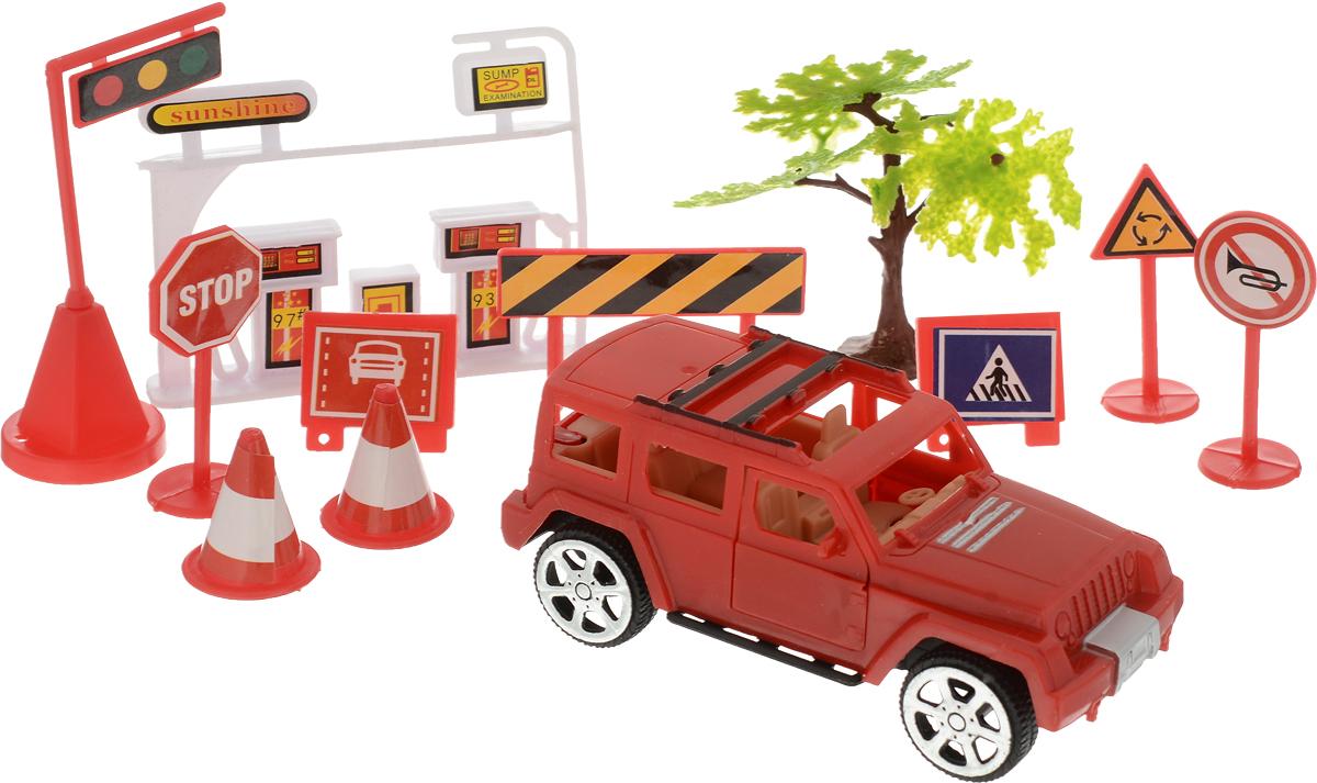 ABtoys Игровой набор Автозаправка цвет красный М6209