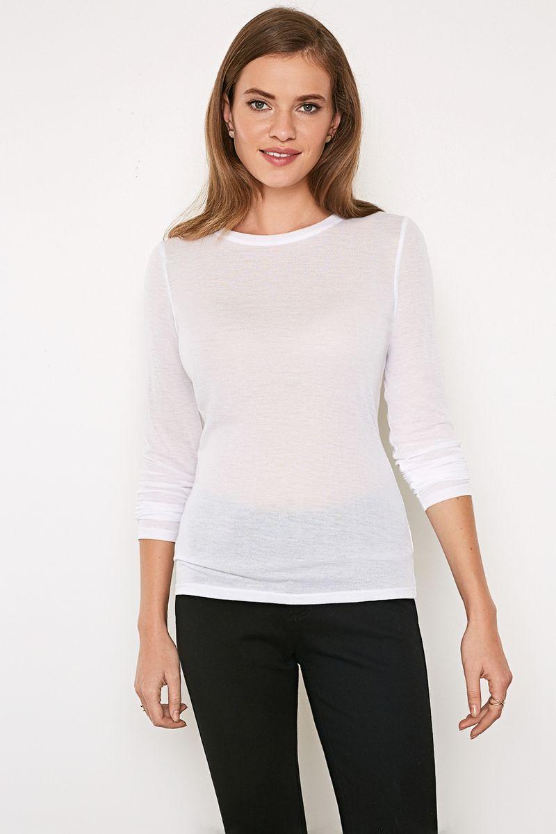 Джемпер женский Concept Club Porta, цвет: белый. 10200100171_200. Размер XS (42)10200100171_200