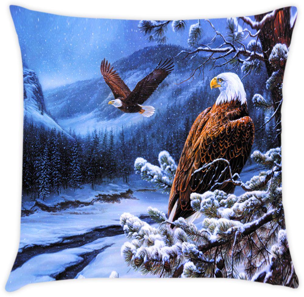 Наволочка декоративная Матренин Посад Гордый орел, 39 х 39 см наборы для вышивания матренин посад рисунок на канве у прохладного фонтана