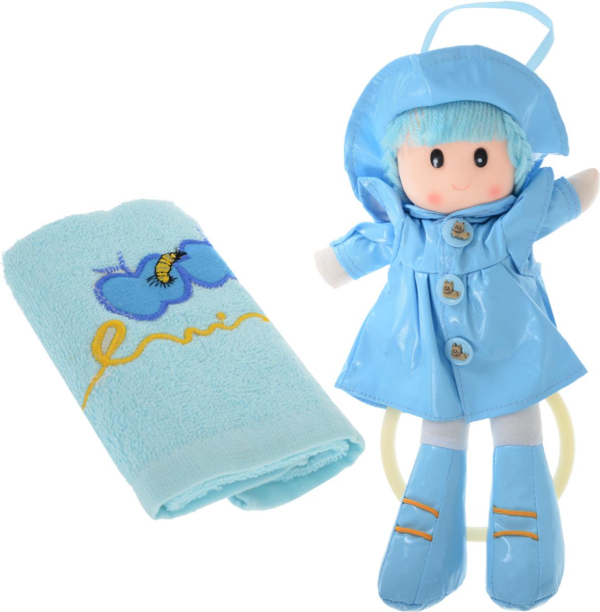 Sima-land Мягкая кукла Аня с держателем и полотенцем цвет желтый цвет голубой sima land мягкая кукла оля с держателем и полотенцем цвет желтый