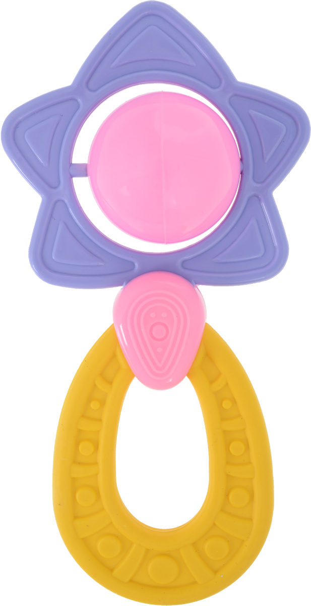 Пластмастер Погремушка Звездочка цвет фиолетовый желтый