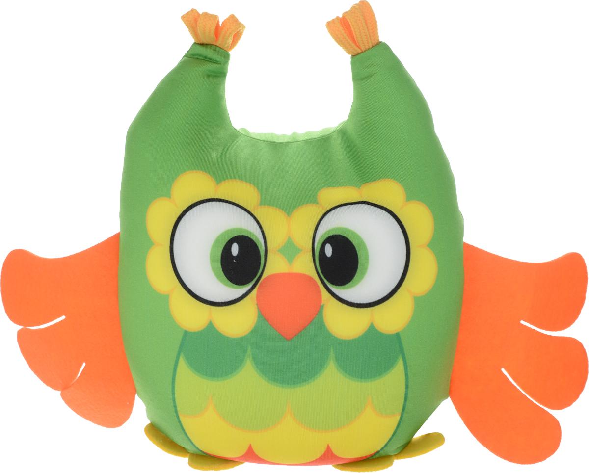 СмолТойс Мягкая игрушка-антистресс Совенок цвет зеленый оранжевый 29 см смолтойс мягкая игрушка зайка даша цвет салатовый 41 см
