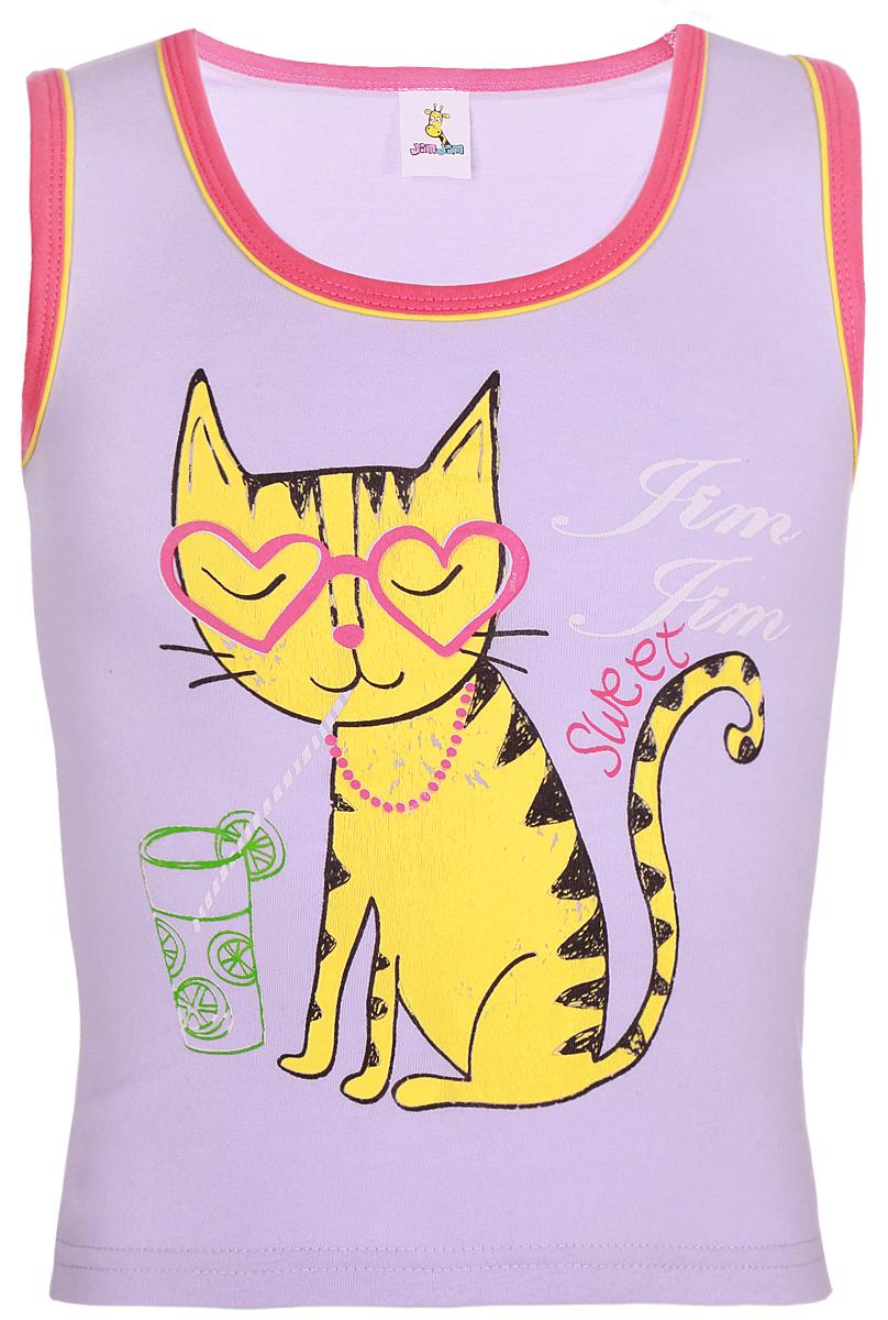 Майка для девочки Arge Fashion, цвет: фиолетовый. SIP 14-3. Размер 128SIP 14-3
