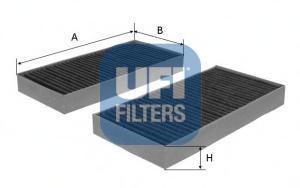 Фильтр салонный UFI 54.104.00, 2 шт54.104.00