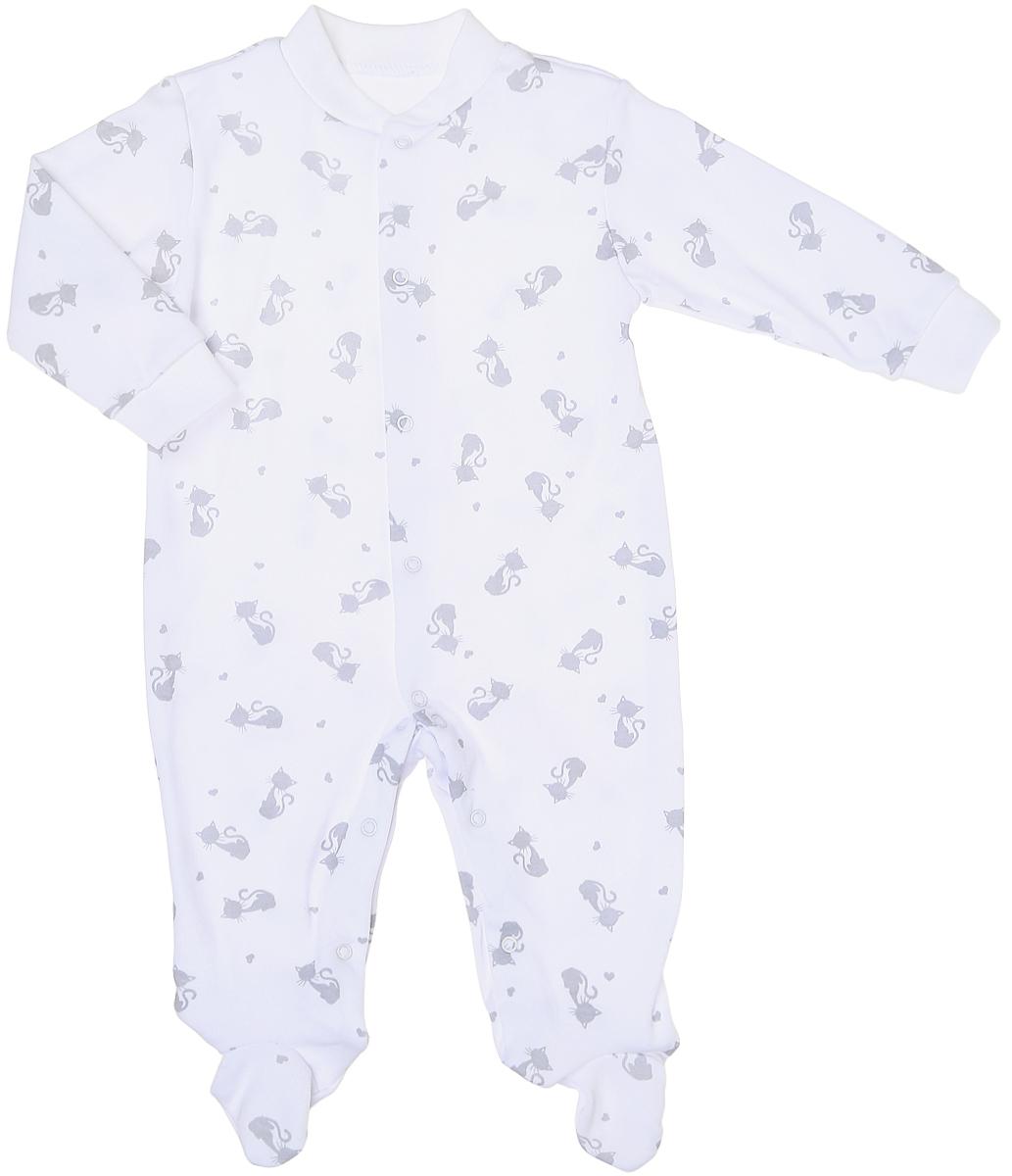 Комбинезон детский Фреш Стайл, цвет: белый. 33-526. Размер 74, 9 месяцев