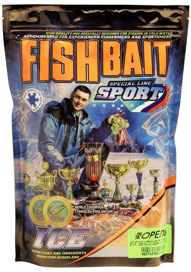 Прикормка для холодной воды FishBait Ice-Sport. Форель, зимняя, 0,75 кг
