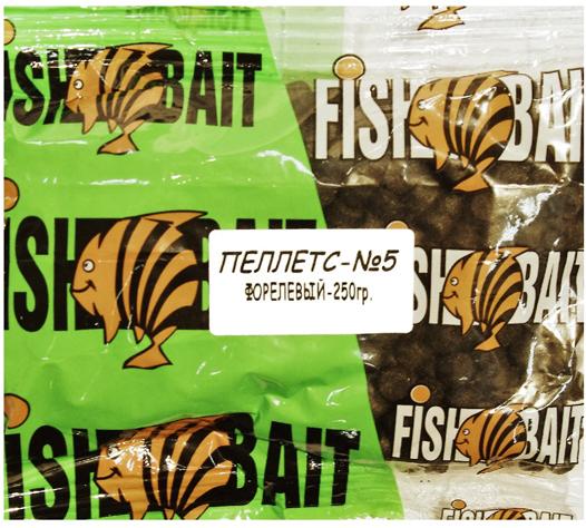 Пеллетс для холодной воды FishBait Ice Gold. Форелевый №5, 0,25 кг