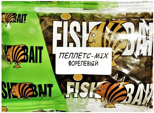 Пеллетс для холодной воды FishBait Ice Gold. Форелевый Mix, 0,25 кг
