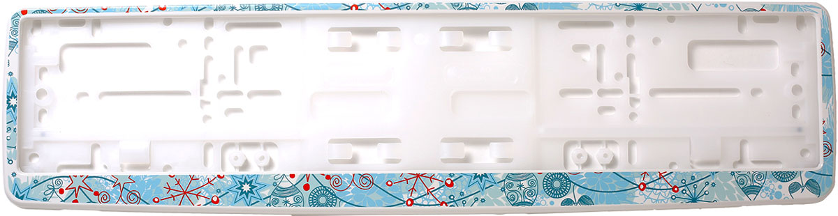 Рамка для номера Концерн Знак Снежинки 1, цвет: белыйЗ0000016982Рамка для номера предназначена для крепления государственного регистрационного знака. Материал основания - полипропилен, материал лицевой панели ABS-пластик. Высокое качество рамок обусловлено эластичностью пластика, его морозостойкостью. Представляю собой облегчённую конструкцию и легко, удобно крепятся. Рамки поставляются с этикеткой, на обороте которой есть инструкция по креплению рамки на автомобиль.