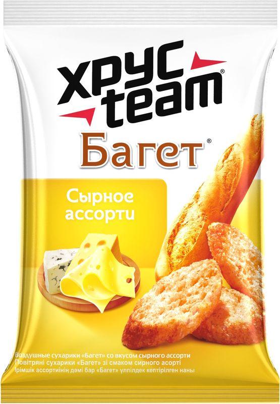 Хрусteam Багет сухарики Сыр, 60 г