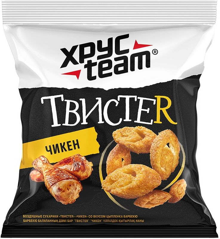 Хрусteam ТвистеR сухарики Цыпленок, 45 г цена 2017