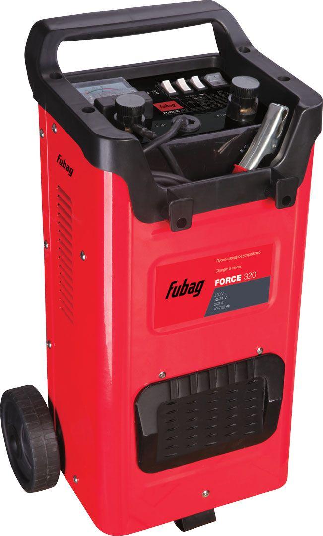Пуско-зарядное устройство Fubag Force 32068836Профессиональное пуско-зарядное устройство, которое способно быстро иуверенно запустить двигатель автомобиля даже при полностью разряженномаккумуляторе, независимо от вида используемого автомобилем топлива. Характеристики: работа с аккумуляторами напряжением 12 и 24 В; защита от короткого замыкания;отсек для хранения кабелей и зажимов; индикатор зарядного тока;три режима работы в качестве зарядногоустройства.
