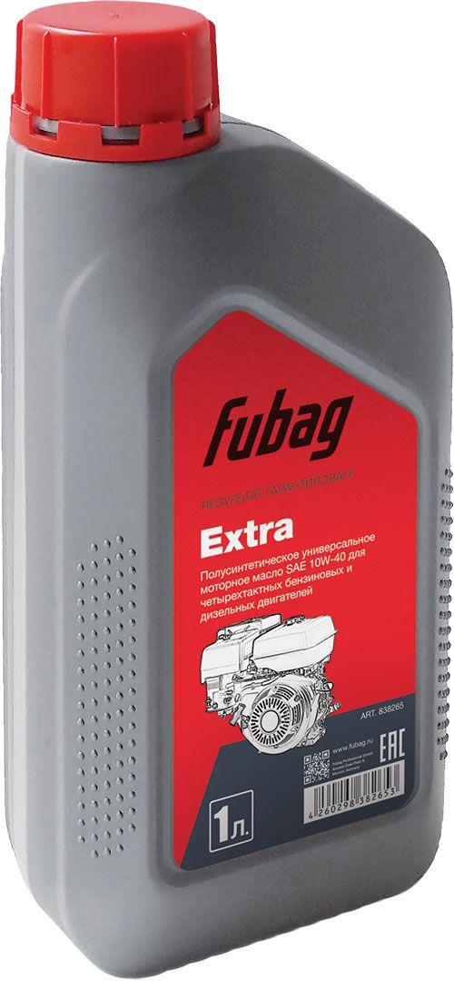 Масло моторное полусинтетическое Fubag, для четырехтактных двигателей Fubag Extra SAE 10W-30, 1 л838265Молибденированное Полусинтетическое масло с высокими эксплуатационными характеристиками для 4-тактных бензиновых и дизельных двигателей воздушного и жидкостного охлаждения. Обладает отличной стойкостью к окислению при высокой температуре, защищает подвижные детали двигателя от образования шлама и отложений.Для улучшения смазочных характеристик содержит маслорастворимые соединения молибдена, которые придают маслу коричневый или темно-коричневый цвет.