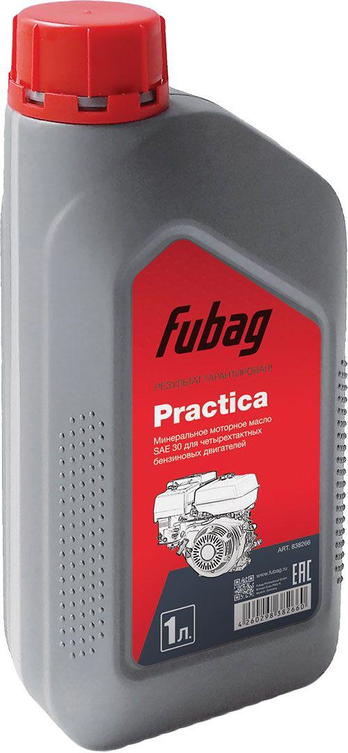 Масло моторное минеральное Fubag, для четырехтактных двигателей Fubag Practica SAE 30, 1 л838266Молибденированное минеральное масло с высокими эксплуатационными характеристиками для 4-тактных бензиновых и дизельных двигателей воздушного и жидкостного охлаждения. Обладает отличной стойкостью к окислению при высокой температуре, защищает подвижные детали двигателя от образования шлама и отложений.Для улучшения смазочных характеристик содержит маслорастворимые соединения молибдена, которые придают маслу коричневый или темно-коричневый цвет.