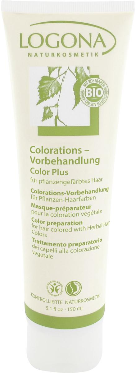 Logona Color Plus Средство для подготовки волос к окрашиванию, 150 мл00156LOGONA Color Plus средство для подготовки волос к окрашиванию - оптимальным образом подготавливает Ваши волосы к окрашиванию натуральными красками LOGONA. Особая формула с зеленой минеральной глиной и экстрактом березовых листьев интенсивно освобождает волосы от остатков средств ухода и стайлинга, частиц перхоти и излишков жира и действует так, что натуральные краски лучше ложатся на волосы.