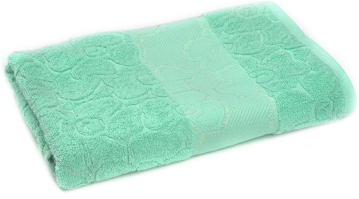 Полотенце махровое Португалия Viola, цвет: ментол, 50 x 100 см439236Махровые полотенца Португалия производятся из 100% хлопка - экологически чистого природного материала. Мягкое, легкое на ощупь, оно не намокает, а впитывает влагу, очень быстро сохнет.