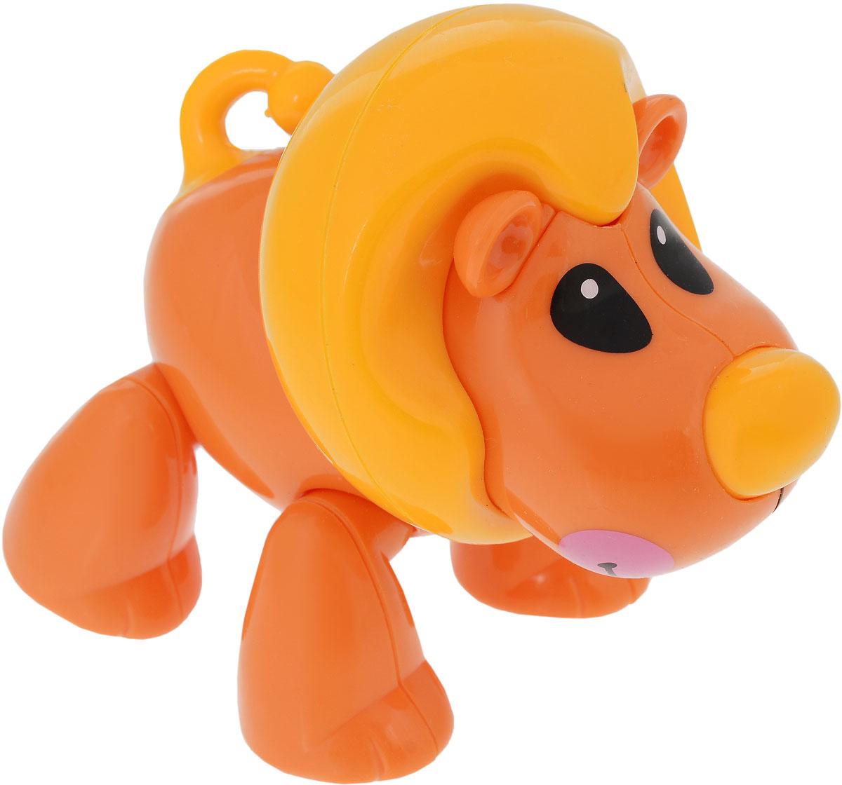 1TOY Фигурка В мире животных Лев цвет оранжевый автомат пулемет 1toy т58356 камуфляж
