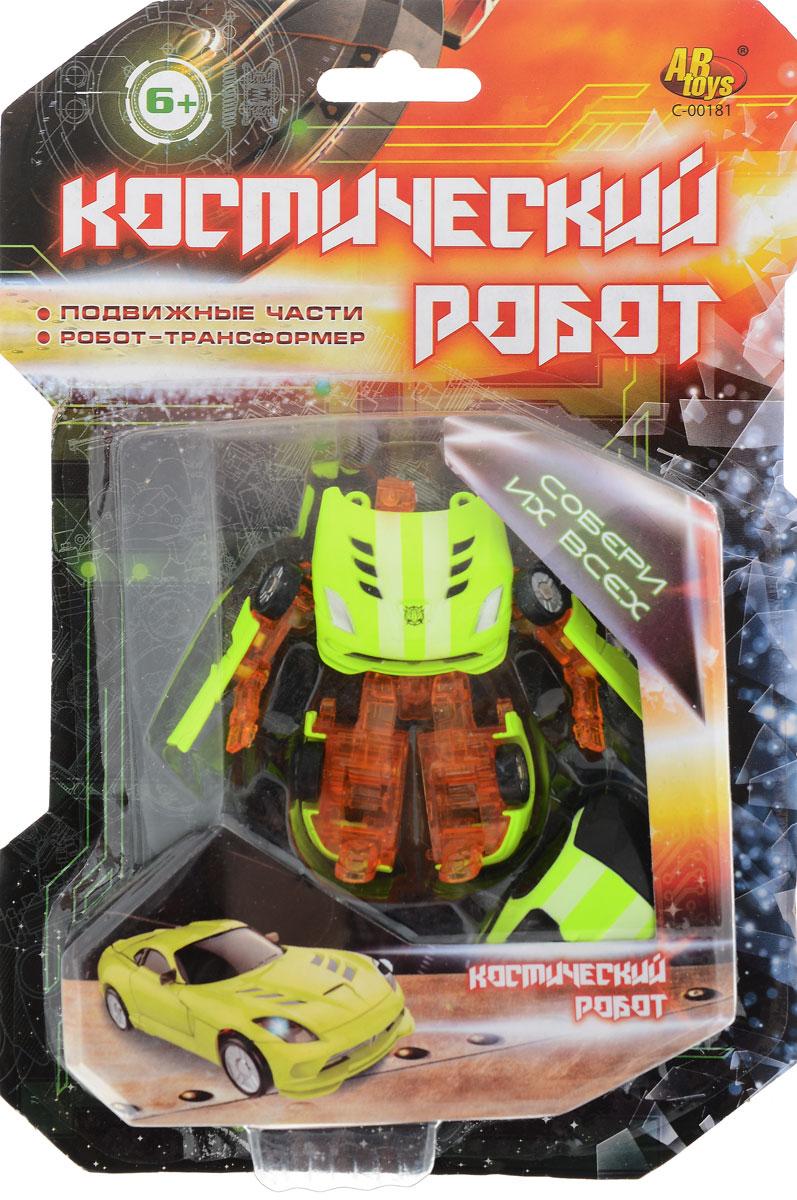 ABtoys Трансформер Космический робот цвет оранжевый, лимонный abtoys внедорожник инерционный цвет зеленый