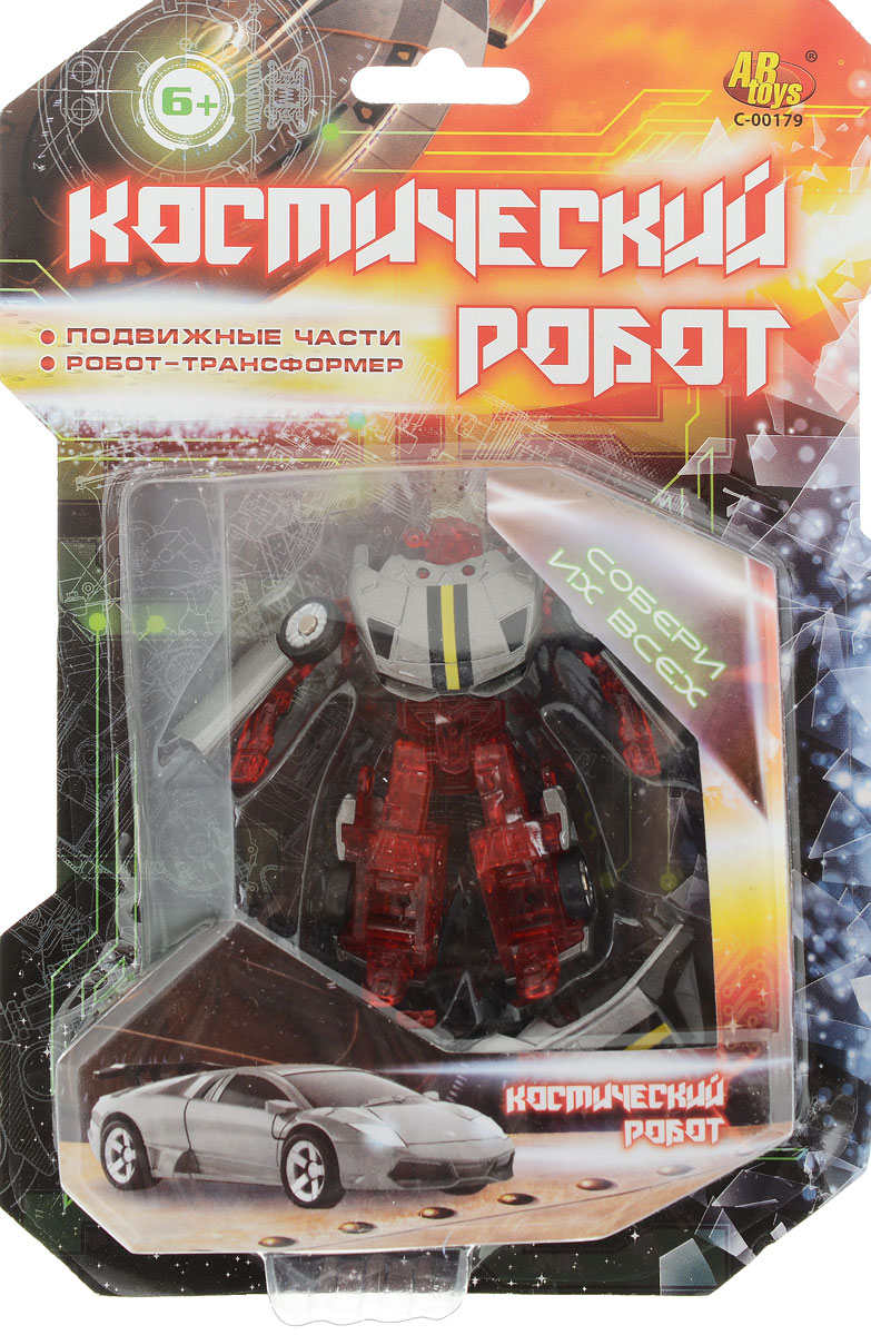 ABtoys Трансформер Космический робот цвет красный серый abtoys внедорожник инерционный цвет зеленый