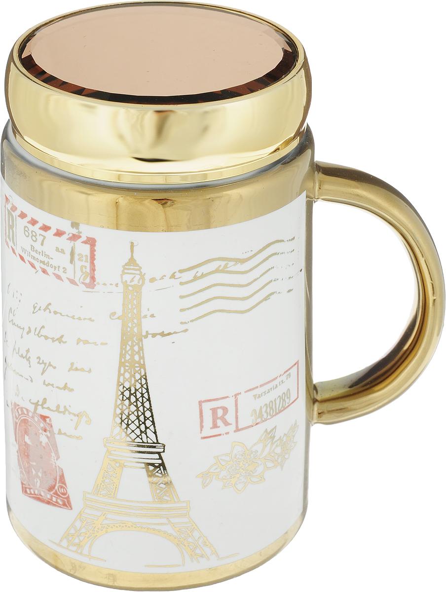 Термокружка LarangE Де пари, цвет: золотой, белый, 500 мл соусник larange барбекю цвет белый