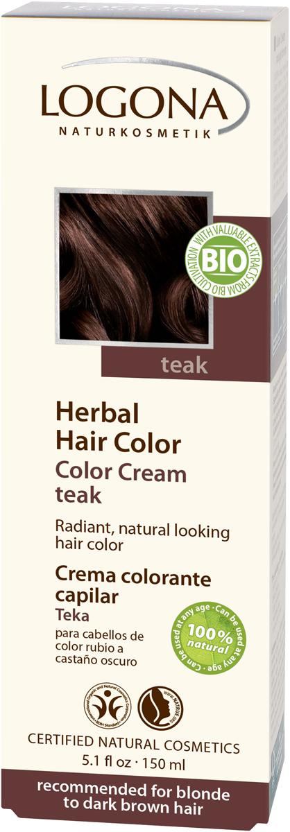 Logona Крем-краска для волос Тик, 150 мл01120Уникальное сочетание исключительно природных растительных красителей и других питательных компонентов придадут вашим волосам яркий цвет, блеск, здоровый вид и объем.Цвет «ТИК» оптимально подходит для таких волос: -средний блонд -темно-коричневый