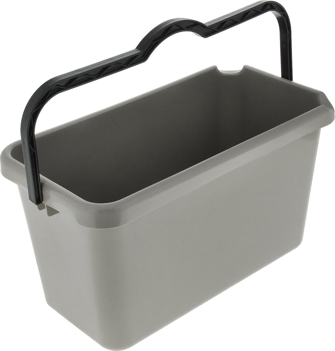 Ведро Альтернатива Эконом, прямоугольное, цвет: темно-серый, 14 лM3078_темно-серыйВедро Альтернатива Эконом изготовлено из высококачественного цветного пластика прямоугольной формы. Оно легче железного и не подвержено коррозии. Ведро оснащено удобной пластиковой ручкой и двумя носиками для удобного выливания воды. Такое ведро станет незаменимым помощником в хозяйстве.