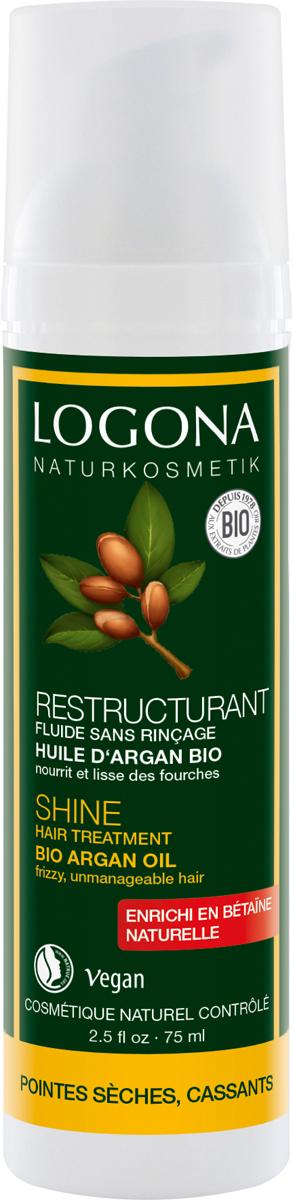 Logona Сыворотка для интенсивного воcстановления блеска волос с БИО-Аргановым маслом, 75 мл logona восстанавливающее масло для волос 75 мл