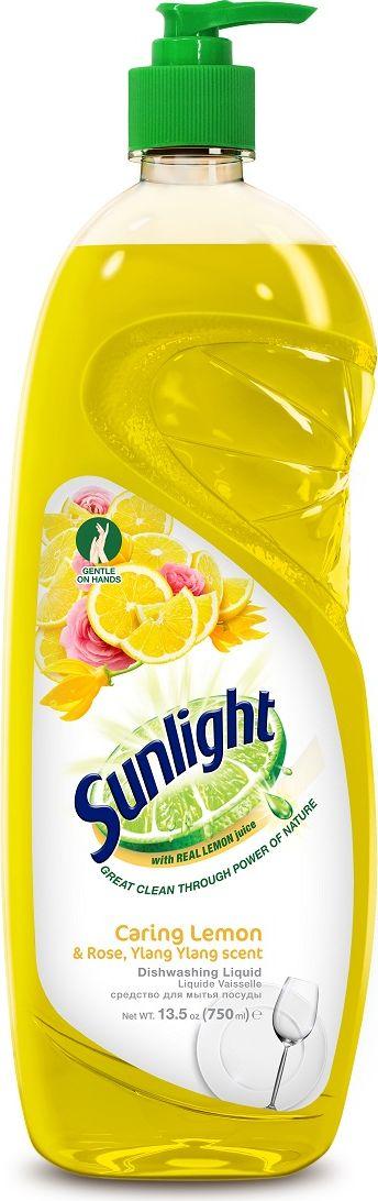 """Жидкое средство для мытья посуды """"Sunlight"""", Lemon, 750 мл"""