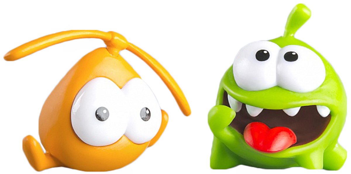 PROSTOtoys Cut the Rope Набор фигурок 2 Ам Ням, 2 шт набор фигурок cut the rope 2 pack 9