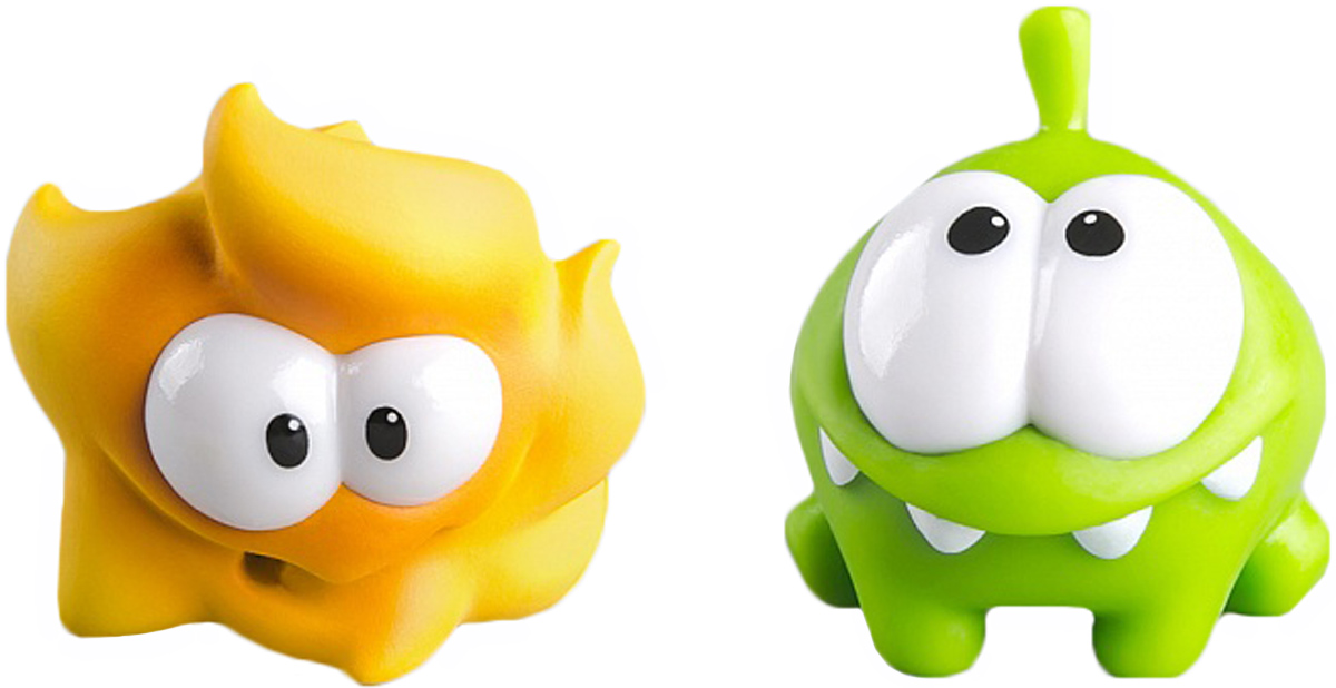 PROSTOtoys Cut the Rope Набор фигурок 7 Ам Ням, 2 шт набор фигурок cut the rope 2 pack 9