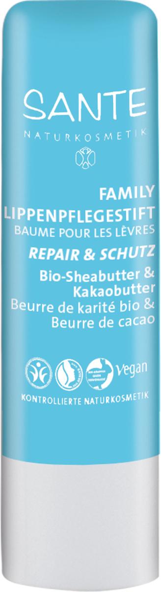 Sante Family бальзам для губ Восстановление и уход чувствительной кожи с Био - Ши и Какао, 4,5 г44610100% натуральный бальзам Sante Family защищает и увлажняет чувствительную и потрескавшуюся кожу губ. Высококачественные компоненты способствуют восстановления липидного барьера. Активный комплекс из восков рисовых отрубей и лакового дерева, канделильского, карнаубского восков, насыщают кожу ценными аминокислотами и витамином F. Био-масла каритэ, какао и чуфы восстанавливают кожу.