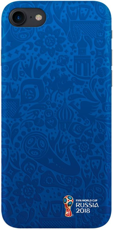 Deppa FIFA Логотип чехол для Apple iPhone 7/8, Blue103896Чехол к чемпионату мира по футболу FIFA.