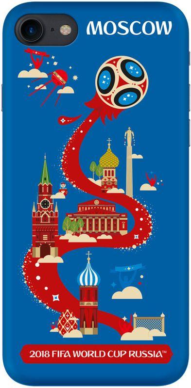 Deppa FIFA Москва чехол для Apple iPhone 7/8, Blue103905Чехол Deppa к чемпионату мира по футболу FIFA для Apple iPhone 7/8 предназначен для защиты корпуса смартфона от механических повреждений и царапин в процессе эксплуатации. Имеется свободный доступ ко всем разъемам и кнопкам устройства.