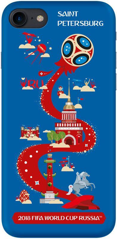 Deppa FIFA Санкт-Петербург чехол для Apple iPhone 7/8, Blue103906Чехол к чемпионату мира по футболу FIFA.