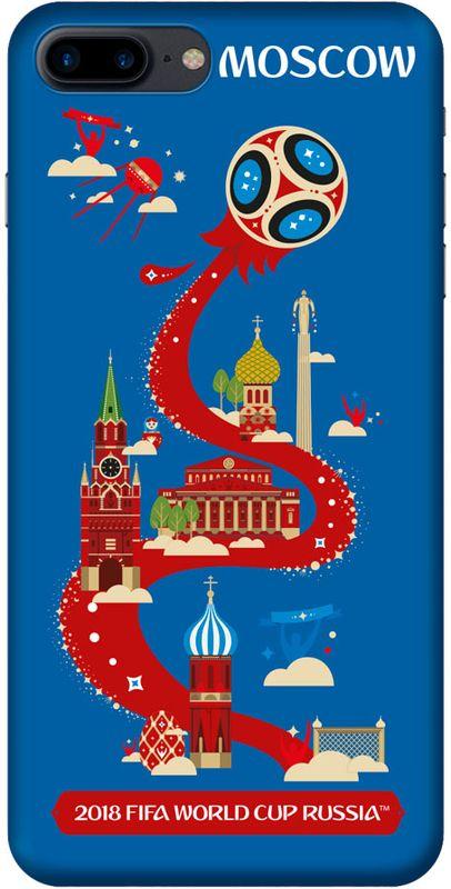 Deppa FIFA Москва чехол для Apple iPhone 7/8 Plus, Black103929Чехол к чемпионату мира по футболу FIFA.
