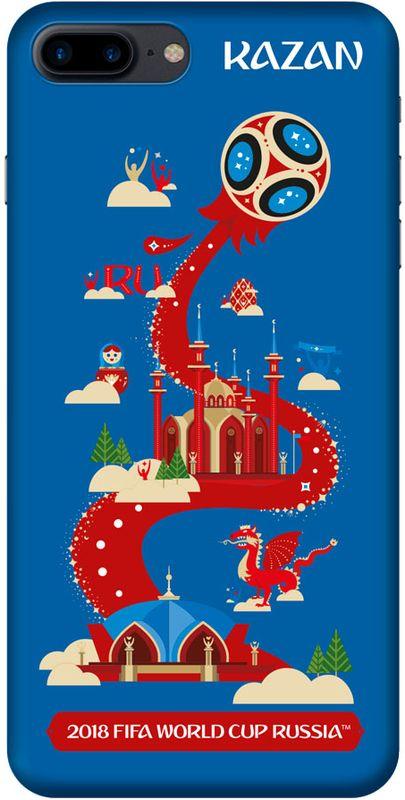 Deppa FIFA Казань чехол для Apple iPhone 7/8 Plus, Blue