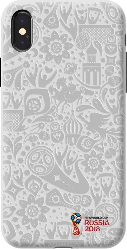Deppa FIFA Логотип чехол для Apple iPhone X, White103943Чехол к чемпионату мира по футболу FIFA.