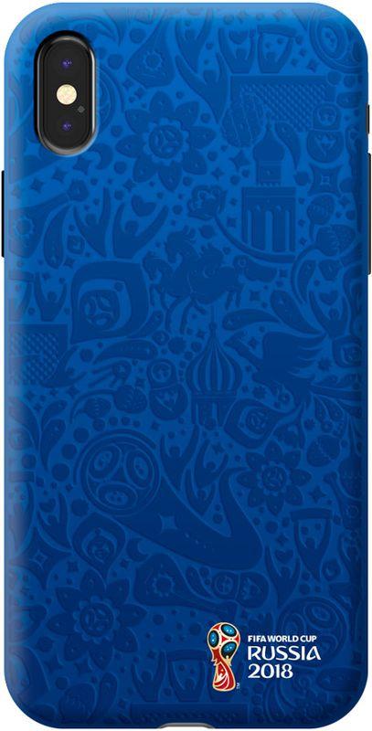 Deppa FIFA Логотип чехол для Apple iPhone X, Blue103944Чехол к чемпионату мира по футболу FIFA.