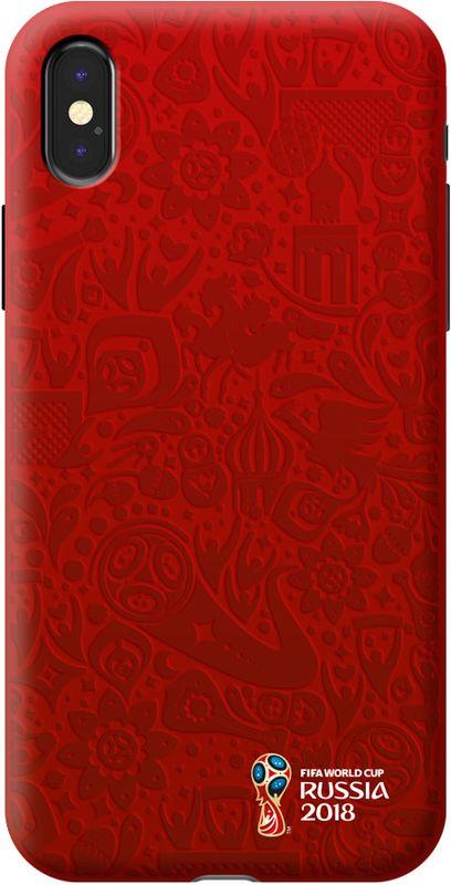 Deppa FIFA Логотип чехол для Apple iPhone X, Red103945Чехол к чемпионату мира по футболу FIFA.