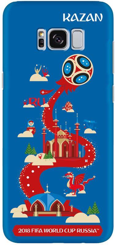 Deppa FIFA Казань чехол для Samsung Galaxy S8, Blue104088Чехол к чемпионату мира по футболу FIFA.