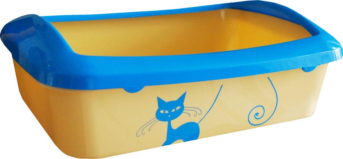 Туалет для кошек №1  Кошка , с бортом, 41 х 30 х 13 см - Наполнители и туалетные принадлежности
