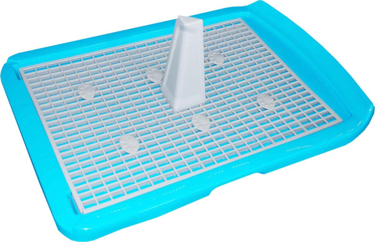 Туалет для собак  Makar , с решеткой, цвет: голубой, 40 х 60 см - Наполнители и туалетные принадлежности