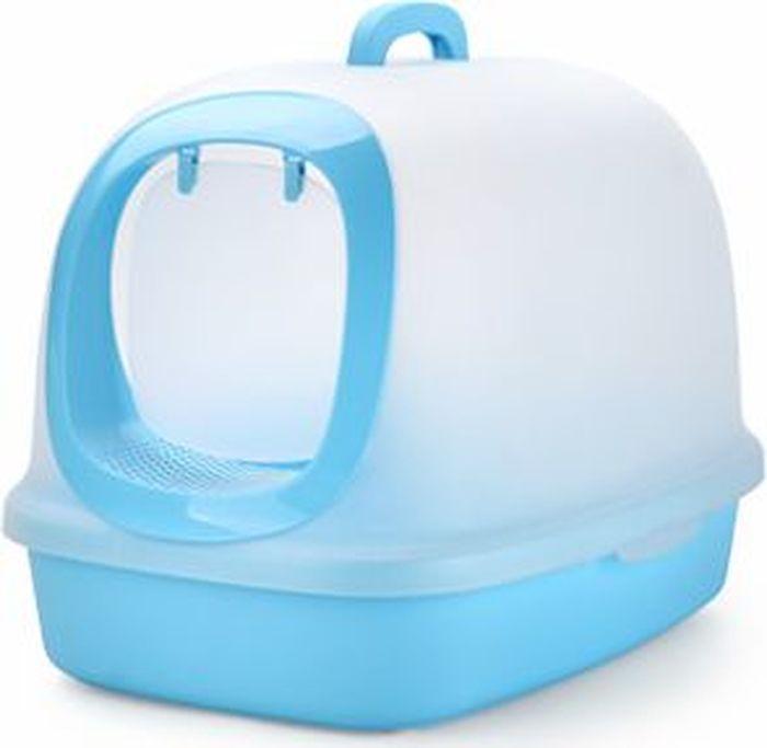 Туалет-бокс для кошек Makar, цвет: голубой, 62 х 46 х 46 смМАК42Туалет-бокс 62х46х46 голубой. Благодаря дверце удерживает запах внутри и обеспечивает чистоту вокруг туалета.