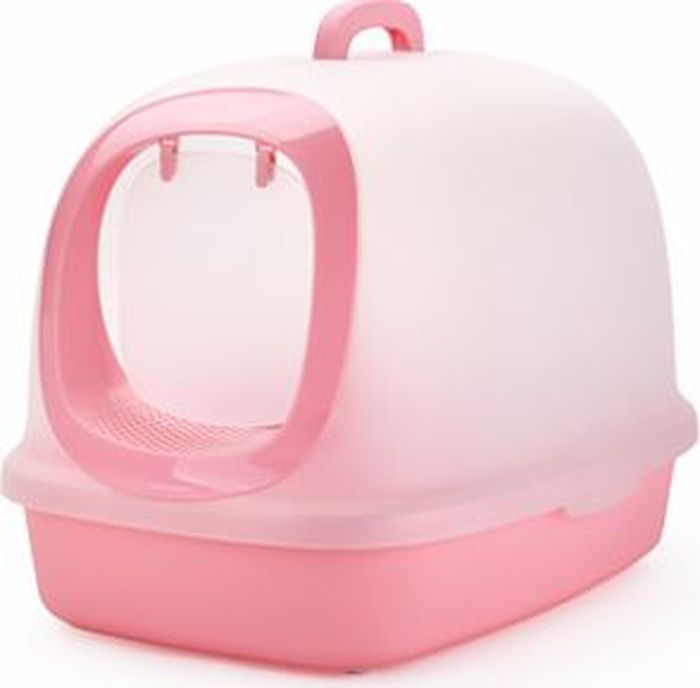 Туалет-бокс для кошек  Makar , цвет: розовый, 62 х 46 х 46 см - Наполнители и туалетные принадлежности - Лотки и совки