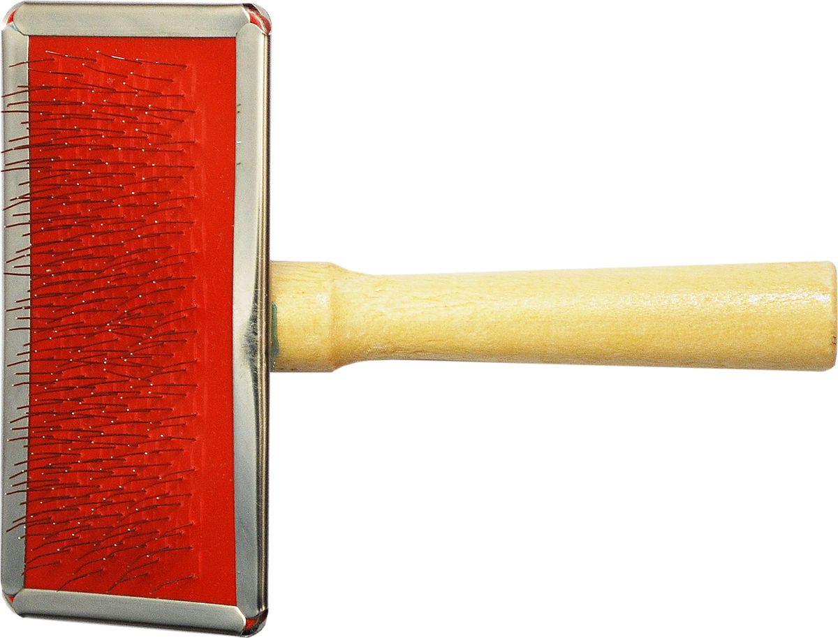 Щетка для животных №1, 12 х 9 смТ9502Щетка малая для животных с металлическими зубьями, 12х9 см