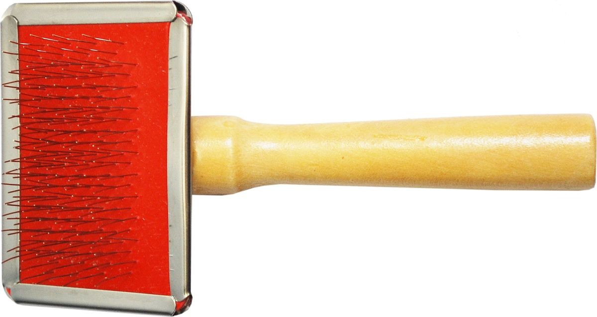 Щетка для животных №1, 12 х 6 смТ9503Щетка мини для животных с металлическими зубьями, 12х6 см