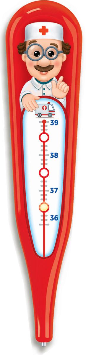 Азбукварик Электронная игрушка Говорящий градусник цвет красный азбукварик электронная музыкальная игрушка курочка ряба